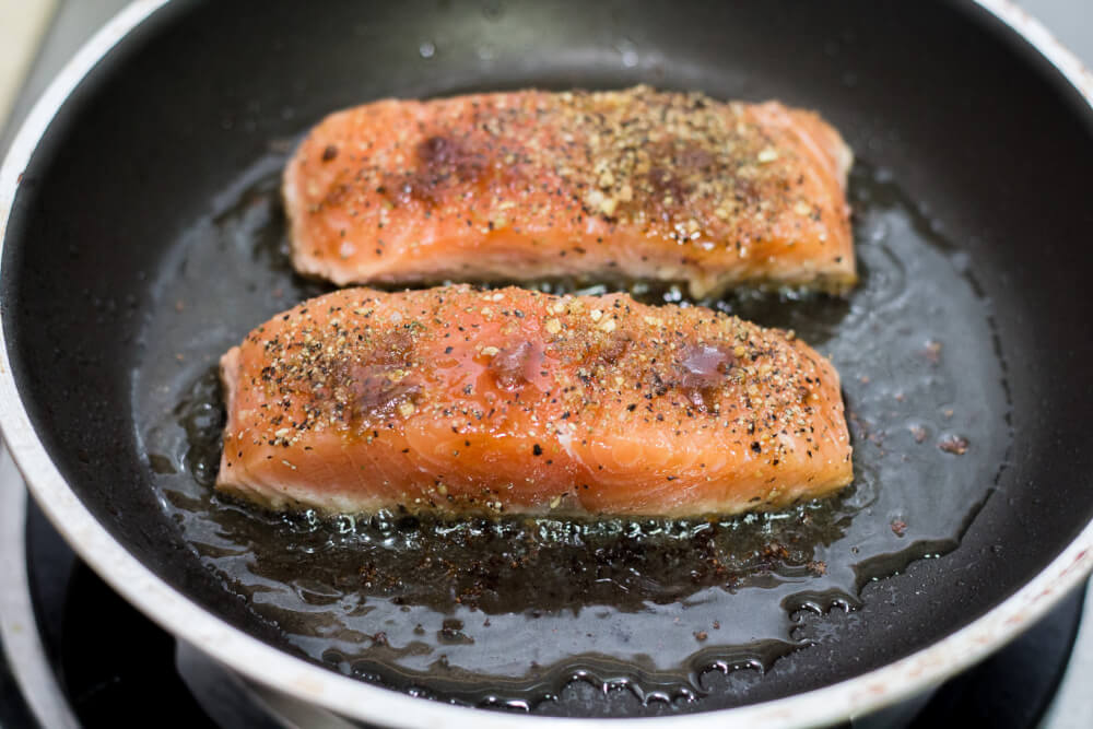 Easy Pan Cooked Salmon