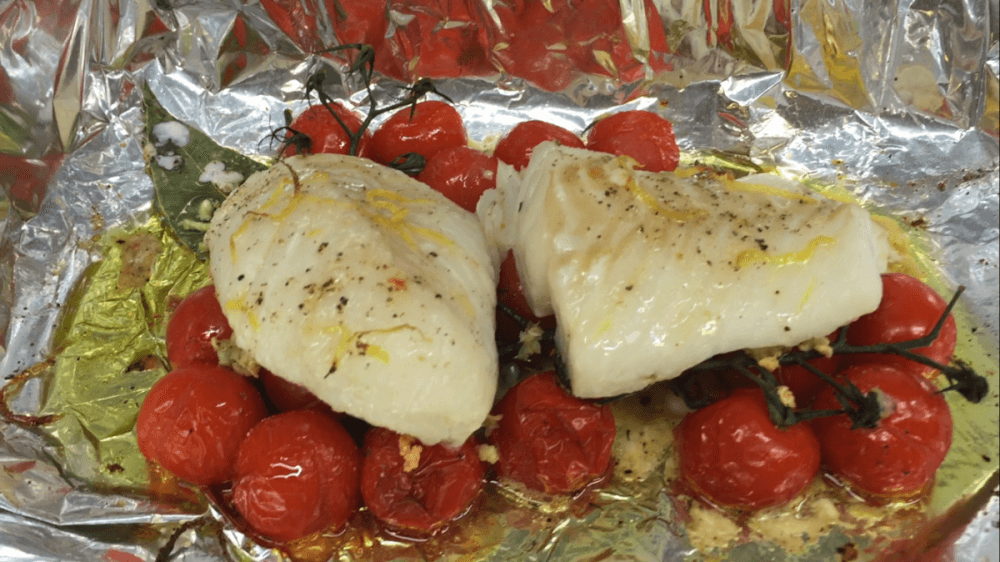 baked cod with tomatoes recipe
