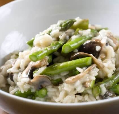 Chicken Risotto with Asparagus