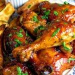 Crockpot Honey and Garlic Chicken Thighs
