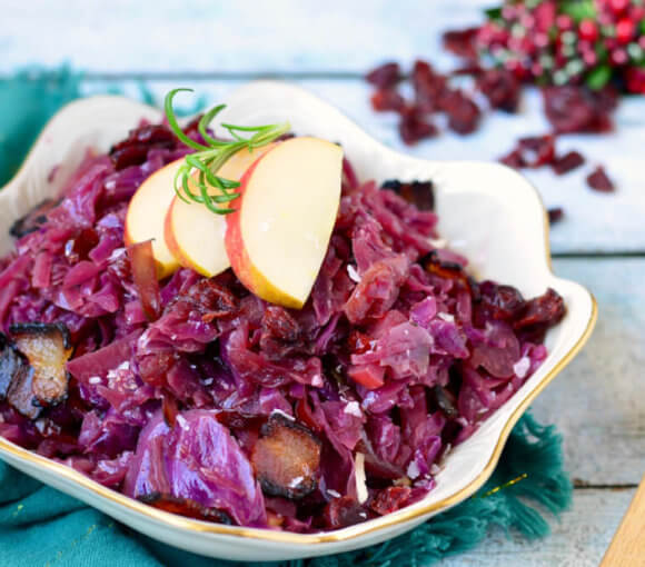 Red Cabbage and Apple Side Dish
