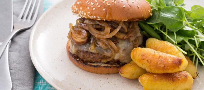 Beef Burgers with Mushroom Recipe